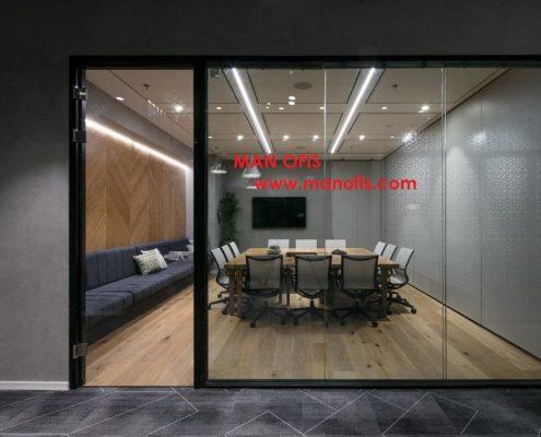 man ofis şüşə bölməsi