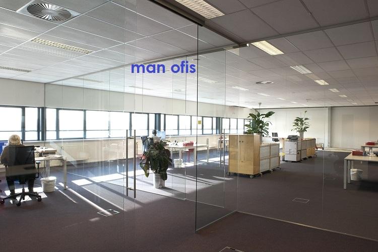 man ofis, bölmə divar