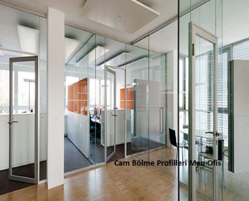F400 Şüşə Bölmə Profilləri Man Office