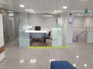 f600 man ofis, kısa seperatör bölme duvar