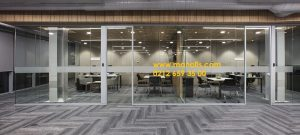 Vahid pəncərə şüşəsi pəncərə ofis bölmə profili 4 sm